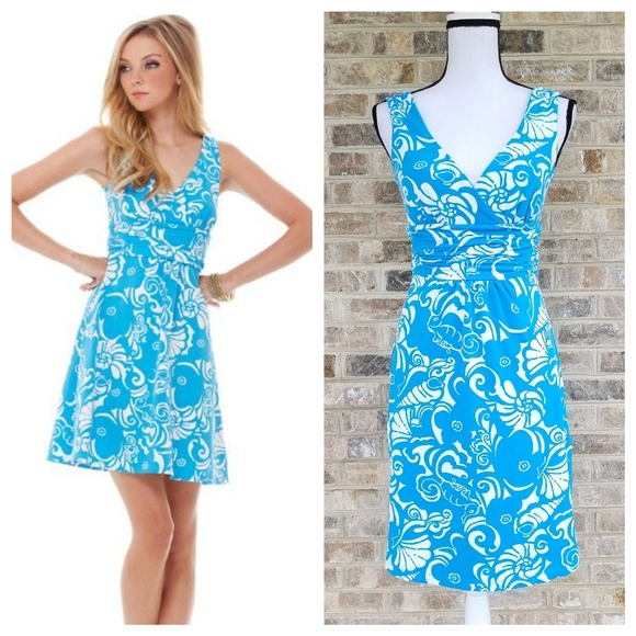 Lilly Pulitzer S SMALL Ariel Blue Tide Pools Dress
